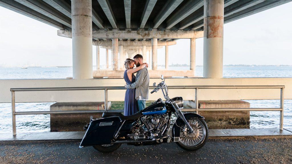 Motorcycle-Engagement-Photos-Virginia-Key-Florida-Ashley-and-Erik-Photography